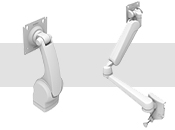 AV - Vertically Articulating Tilt, Swivel, Swing and Dual Extension Arm (C, V & W Series)